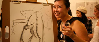 Life Drawing Hen Party Corporate Event